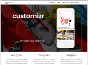 best wordpress theme Customizr