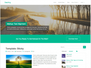 best wordpress theme Dazzling