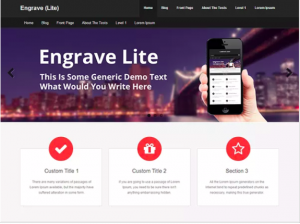 best wordpress theme Engrave Lite