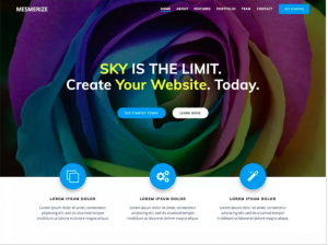 best wordpress theme Mesmerize