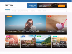 best wordpress theme Metro Magazine